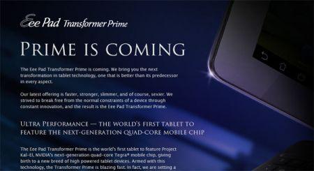 Dal 24 Gennaio Disponibile il Nuovo Asus Transformer Prime