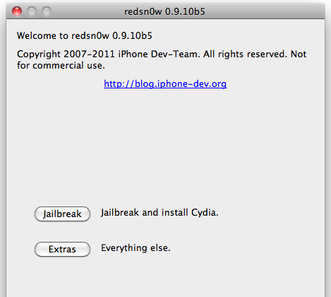 Download Redsn0w 0.9.10b5 per Windows e Mac