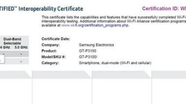 Nuovi Tablet Samsung,P3100 e P5100