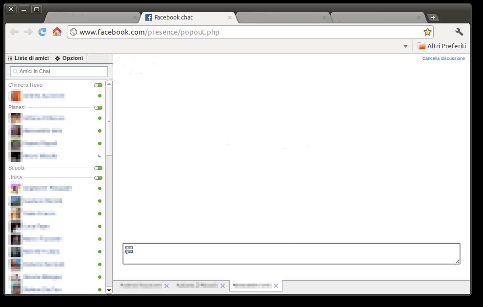 Ripristinare vecchia chat Facebook