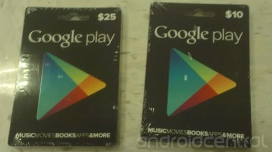 Google Play per natale introdurrà le Gift Card
