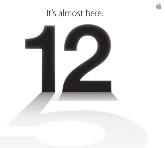 """""""It's Almost Here"""", ecco il motto del nuovo evento Apple per l'iPhone 5"""