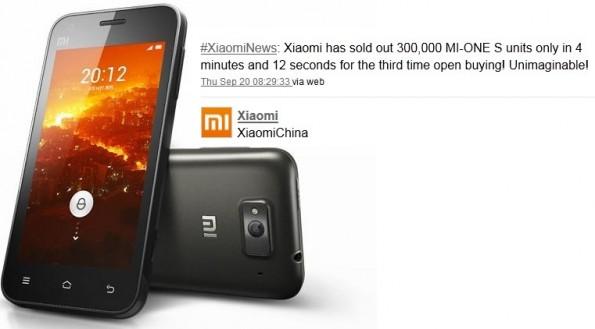 Xiaomi ancora da record, venduti 300.000 Mi One S in 4 minuti
