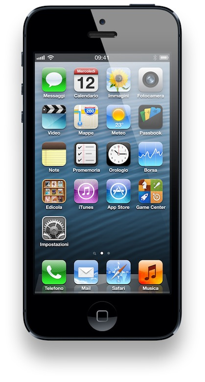 Apple presenta il nuovo iPhone 5 con processore A6, display da 4″, LTE e fotocamera da 8 mpx