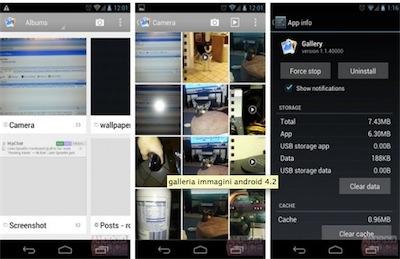 Android 4.2 svelato in una nuova galleria di immagini