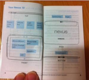 Prime immagini leaked del manuale del Samsung Nexus 10