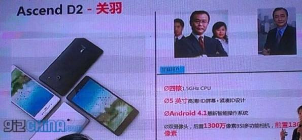 Huawei lancia il nuovo Ascend D2: un quad core da 5 pollici