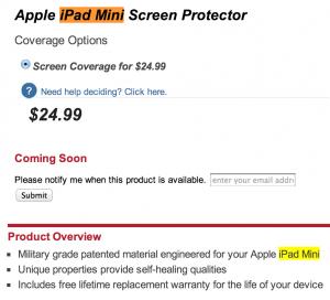 iPad Mini: anche Zagg distribuisce le pellicole per lo schermo di tale prodotto