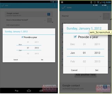 Su Android 4.2 non è presente il mese di dicembre nel calendario