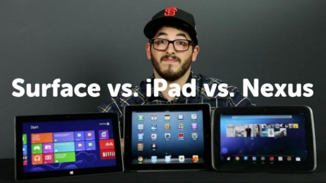 Nexus 10 vs Microsoft Surface vs iPad 3 ecco il confronto tra tablet