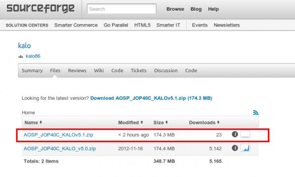 Guida all'installazione della ROM AOSP 4.2 JOP40C KALO sul Galaxy Nexus