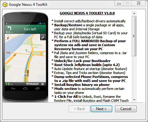 Ecco il Toolkit per il Nexus 4: Recovery, Root, Ripristino, Backup