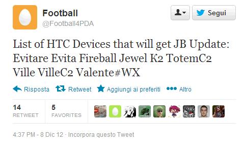 Rumors HTC: ecco la lista dei device aggiornati a Jelly Bean