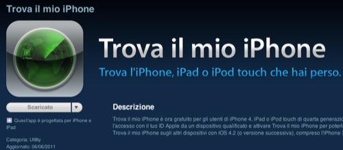 L'app Trova il mio iPhone si aggiorna e ci porta fino al dispositivo smarrito