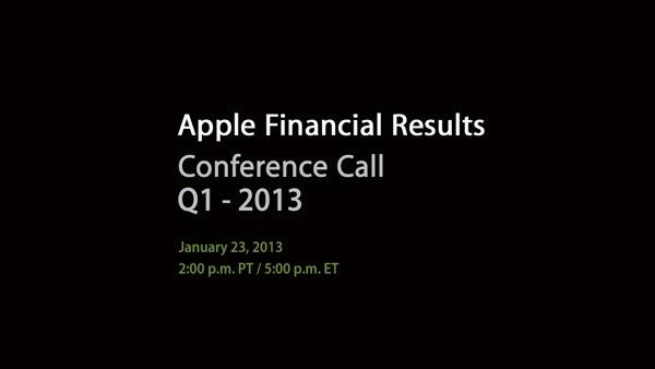 Apple renderà noti i risultati Q1 il prossimo 23 gennaio
