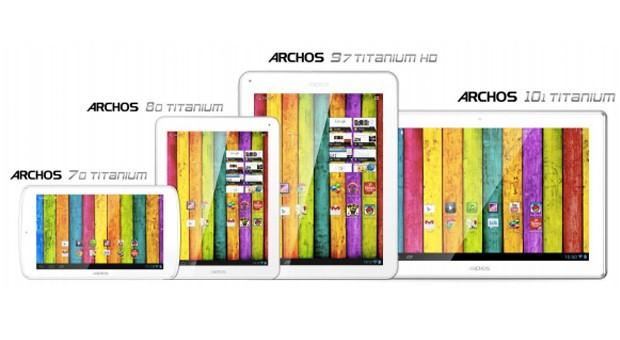 CES 2013: Archos presenta 4 nuovi tablet della serie Titanium