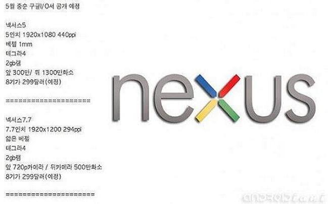 Nexus 5 e Nexus 7.7 in arrivo al Google I/O?