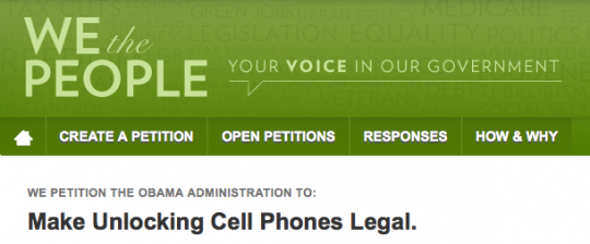 Sblocco degli smartphone: parte le petizione per legalizzazione