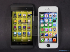BlackBerryZ10-vs-Apple-iPhone5