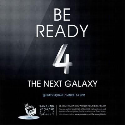 L'evento Unpacked del Samsung Galaxy S4 sarà in diretta su Youtube