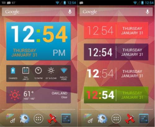 Widget Zone| Rilasciato HD Widget 3.8 – Colourform con supporto temi colorati e stile 4.2