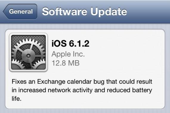 Apple rilascia il nuovo firmware iOS 6.1.2