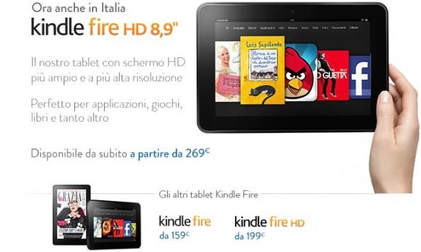 Amazon Kindle Fire HD 8.9 arriva in Italia