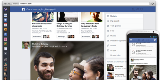 Facebook presenta la nuova grafica News Feed