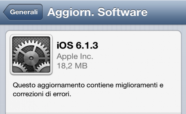 Apple introduce iOS 6.1.3 e chiude il jailbreak Evasi0n