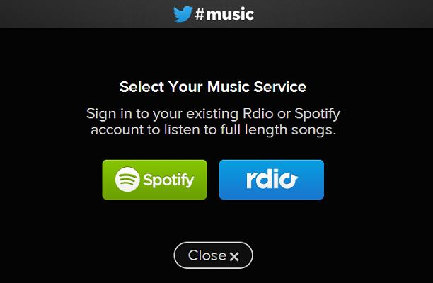 Twitter Musica è in arrivo, e sarà integrato con Spotify e Rdio