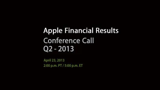 Pubblicati i risultati finanziari Apple del secondo trimestre 2013