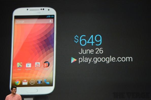 Google annuncia il Galaxy S4 Google Edition