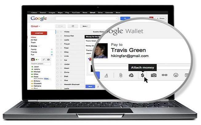 Con Wallet e Gmail sarà possibile effettuare i pagamenti