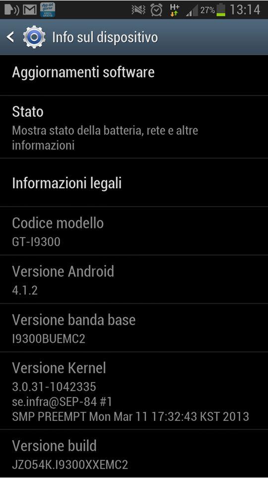 Nuovo aggiornamento I9300XXEMC2 del Galaxy S3 per Brand Vodafone Italiani