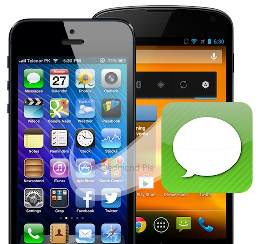 SMS-iPhone-Android
