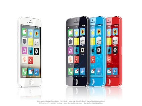 iPhone economico mostrato in un nuovo concept con iOS 7
