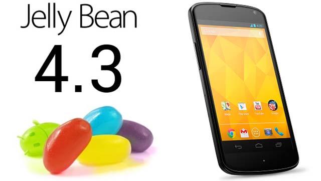 Finalmente confermato dal Sito Sviluppatori Google Android 4.3