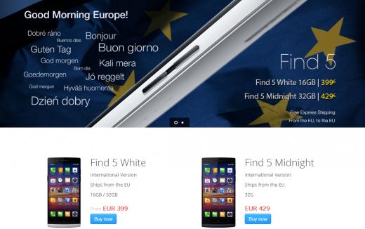 Oppo Find 5: assalto al nuovo store europeo di vendita dello smartphone