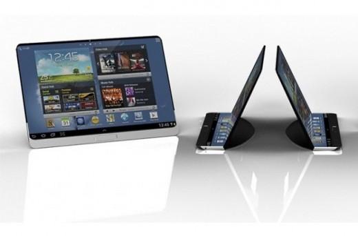 Un interessante concept d'un Tablet Samsung Flessibile
