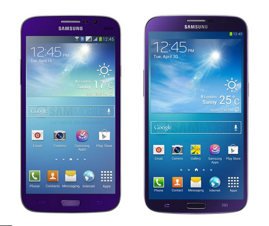 Nuova colorazione Plum Purple per i Galaxy Mega 5.8 e 6.3