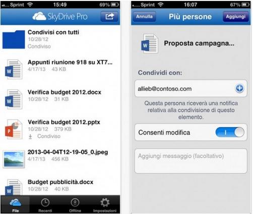Rilasciato Skydrive anche per dispositivi con iOS