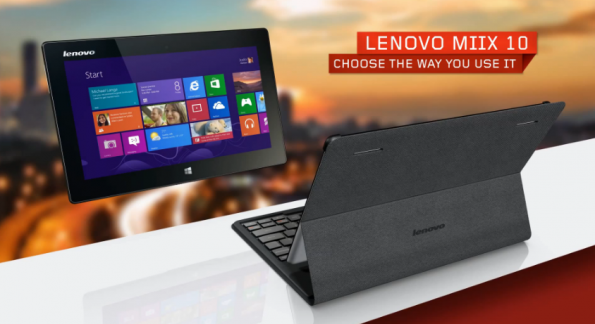 Lenovo Miix 10: un tablet Windows 8 con slot SIM a 499€ (video)