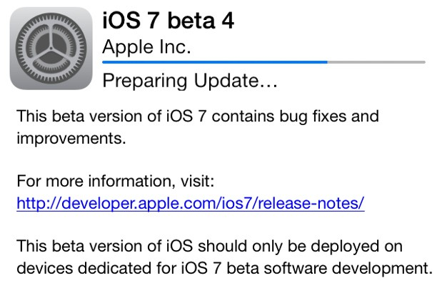 Rilasciata beta 4 di iOS7 per iPhone e iPad