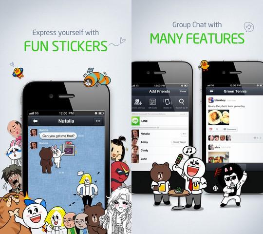 LINE: si aggiorna il competitor di WhatsApp e WeChat per iOS
