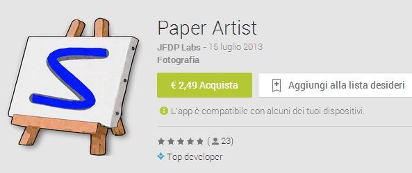 Arriva Paper Artist sul Play Store a 2,49€…ecco dove trovare l'apk