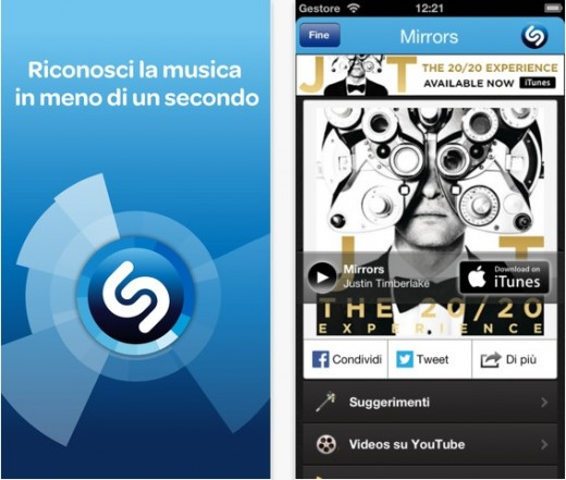 Si aggiorna Shazam per iOS alla versione 6.2.0