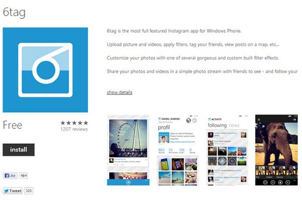Windows Phone: in attesa di Instagram si scatta con 6tag
