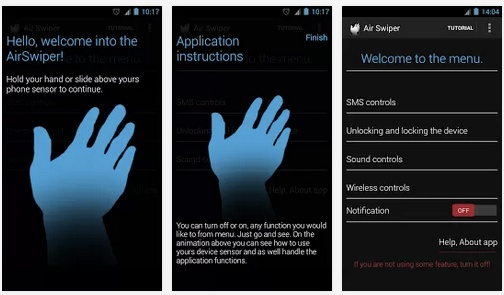Air Swiper: SMS, Wireless, Lock Screen e altro controllati dal sensore di prossimità