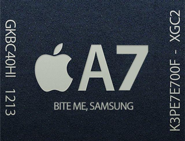 Apple si rivolge ancora a Samsung per la produzione dei chip A7
