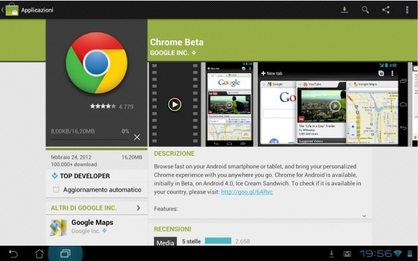 Chrome Beta per Android anche per i dispositivi italiani